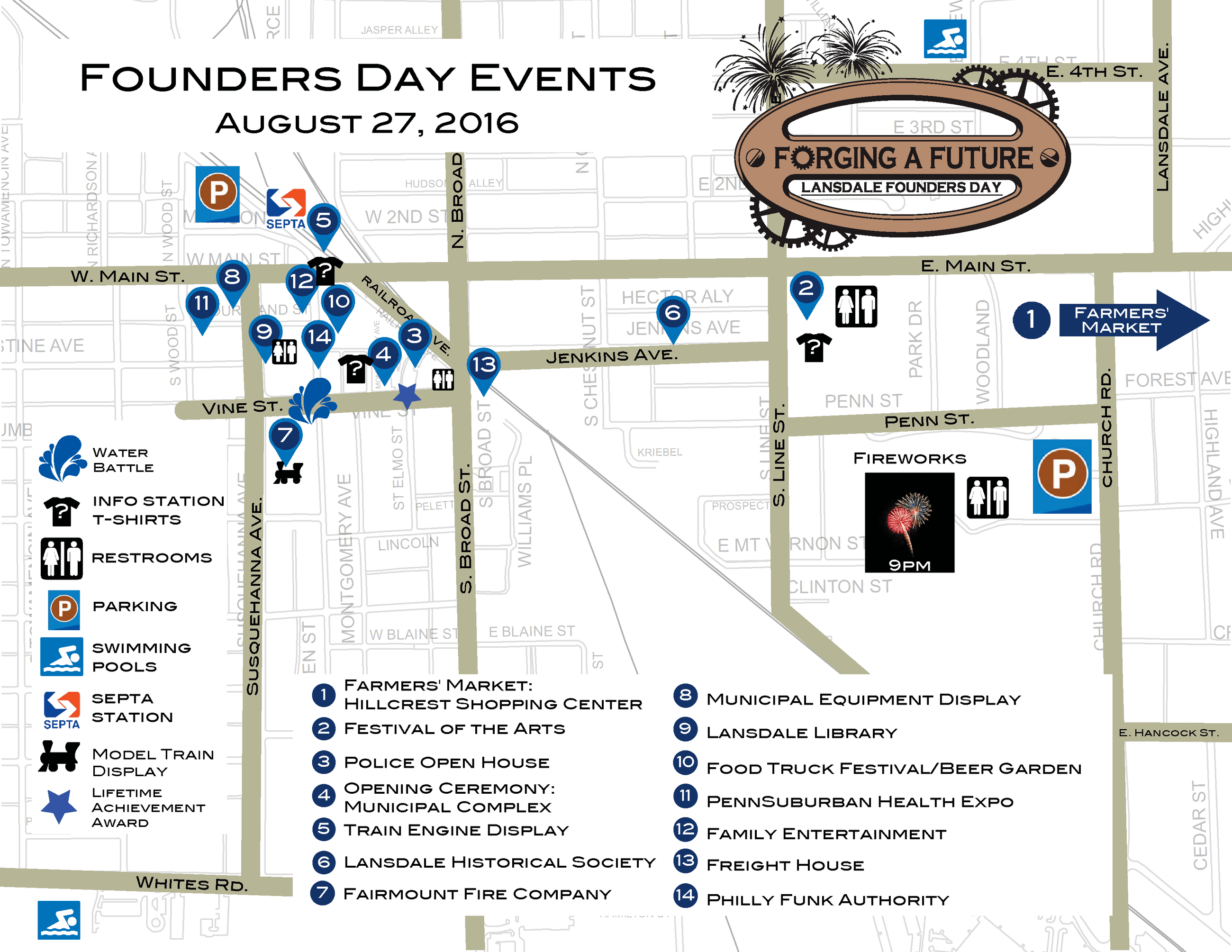 Map of events