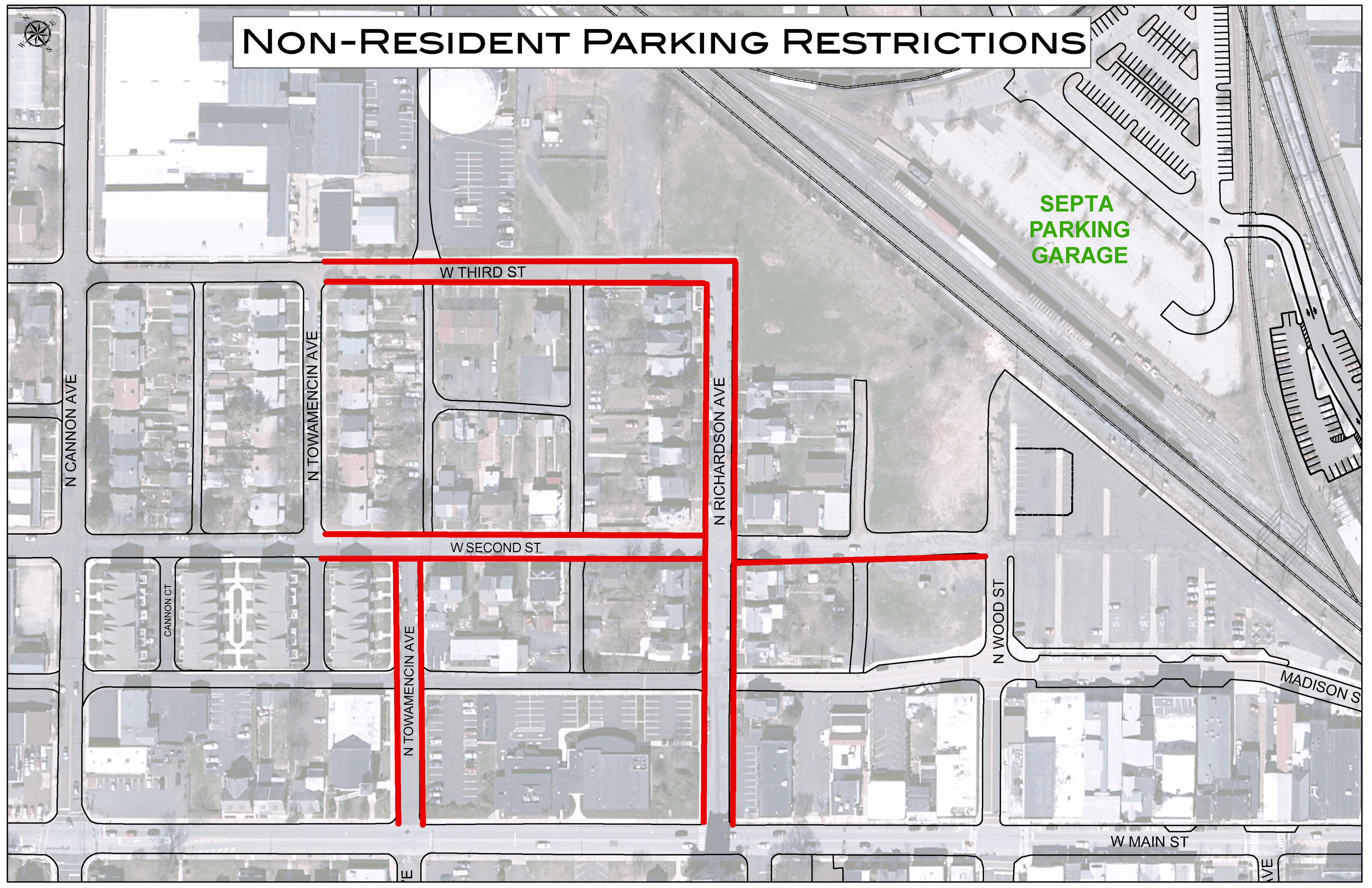 Non Resident Parking Restrictions Map