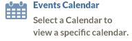 Events Calendar - Select a Calendar to view a specific calendar